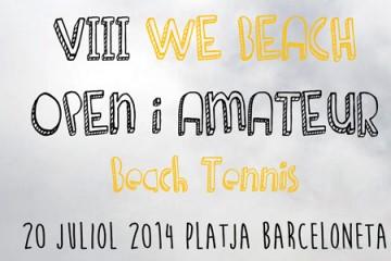 Arriba a la Barceloneta la prova WE BEACH Tennis Platja
